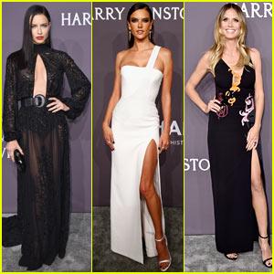 Adriana Lima, Alessandra Ambrosio, Heidi Klum Go Glam for amfAR Gala in NYC