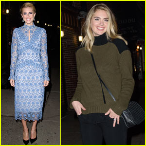 Allison Williams & Kate Upton Step Out in Style in NYC