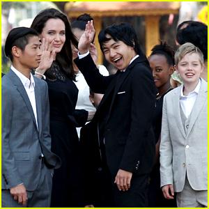 Angelina Jolie's Six Kids Support Her at Press Conference in Cambodia!