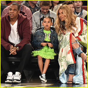 Beyonce & Jay Z Sit Court Side with Blue Ivy at NBA All-Star Game in New Orleans!