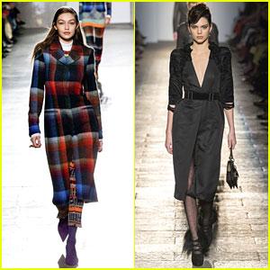BFFs Kendall Jenner & Gigi Hadid Walk In Milan Fashion Week Shows