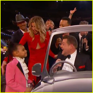 Blue Ivy Carter Joins James Corden for 'Sweet Caroline' at Grammys 2017 - Watch Now!