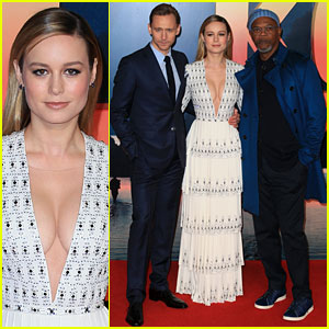 Tom Hiddleston, Brie Larson & Samuel L. Jackson Pose at 'Kong: Skull Island' Premiere!