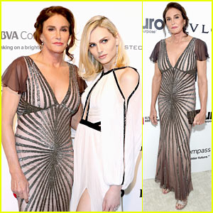 Caitlyn Jenner & Andreja Pejic Get Glam for Elton John AIDS Foundation's Oscars Party