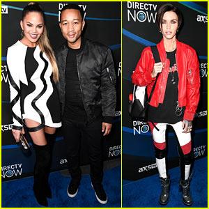 Chrissy Teigen & John Legend Get Ready for Taylor Swift's Concert at DirecTV Now Super Saturday Night