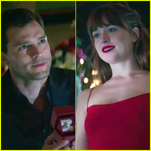 Christian Proposes to Anastasia in New 'Fifty Shades' Video!