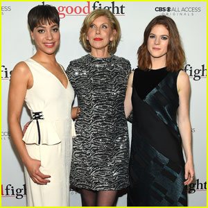 Christine Baranski & Cush Jumbo Premiere 'The Good Fight'