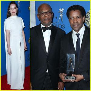 Dakota Johnson & Denzel Washington Attend ASC Awards 2017