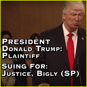 Donald Trump Attends The People's Court on 'SNL' - Watch Now!