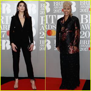 Dua Lipa & Emeli Sandé Get Chic for Brit Awards 2017