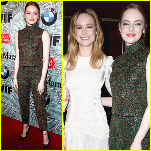Emma Stone & Brie Larson Get Ready For the Oscars at Women in Film Pre-Party
