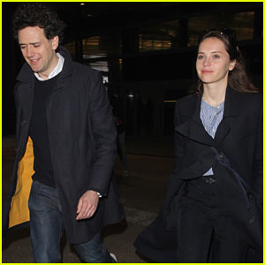 Felicity Jones & Boyfriend Charles Guard Arrive in L.A. Ahead of the Oscars