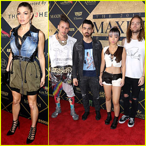Fergie & DNCE Hit Up Annual 'Maxim' Super Bowl Party!