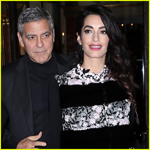 George Clooney Gushes About Pregnant Wife Amal After Slamming Trump at Cesar Awards (Video)
