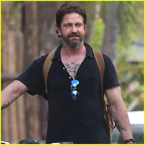 Gerard Butler Puts Tattoos on Display in Cancun with Morgan Brown!