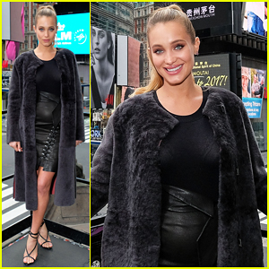 Hannah Jeter Debuts Baby Bump During 'Sports Illustrated Swimsuit Issue' Press!