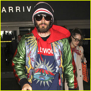 Jared Leto Hangs Out with Salma Hayek During Milan Fashion Week