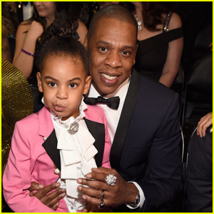 Blue Ivy Channels Prince at Grammy 2017 With Dad Jay Z