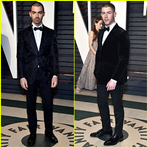 Joe & Nick Jonas Tux it Up for Vanity Fair Oscar Party!