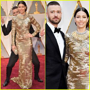 Justin Timberlake Photo Bombs Jessica Biel on Oscars 2017 Red Carpet!