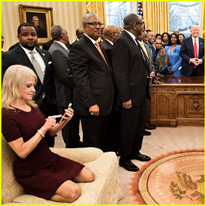 Twitter Reacts to Kellyanne Conway Couch Photo