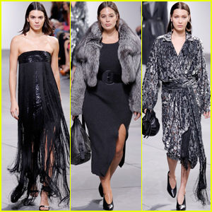 Kendall Jenner, Bella Hadid & Ashley Graham Strut Their Stuff For 'Michael Kors'