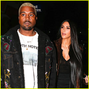 Kim Kardashian & Kanye West Enjoy Romantic Dinner Date