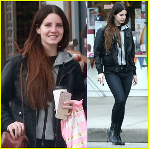 Lana Del Rey is All Smiles Grabbing Coffee in WeHo