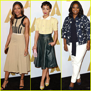 Naomie Harris, Ruth Negga, & Octavia Spencer Attend Oscars Luncheon 2017