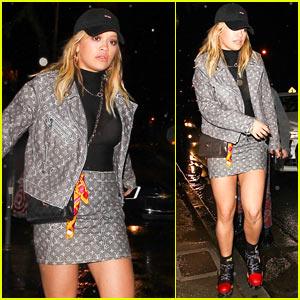 Rita Ora Enjoys Night Out in WeHo