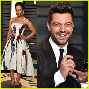Ruth Negga's Boyfriend Dominic Cooper Joins Her at Vanity Fair Oscars Party 2017!