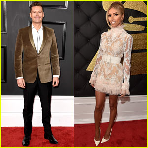 Ryan Seacrest & Giuliana Rancic Are Red Carpet Ready at the Grammys 2017