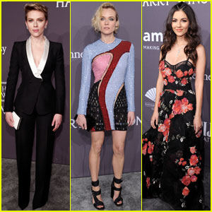 Scarlett Johansson & Diane Kruger Are amfAR Beauties in NYC