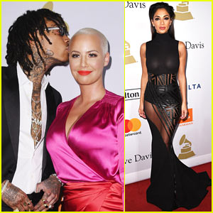 Wiz Khalifa & Amber Rose Couple Up at Pre-Grammy Party After Her Break Up with Val Chmerkovskiy
