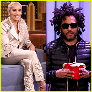 Zoe Kravitz's Dad Lenny Surprises Jimmy Fallon with Drinks on 'Tonight Show'