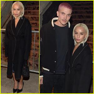 Zoe Kravtiz's Boyfriend Karl Glusman Shows Off His New Pink Hair at Alexander Wang Fashion Show!