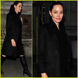 Angelina Jolie Visits Buckingham Palace With Son Maddox