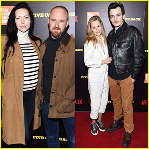 Ben Foster & Pregnant Fiancee Laura Prepon Bring Baby Bump To 'Five Came Back' World Premiere!