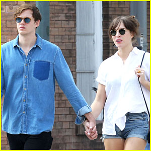 Bill Skarsgard and his girlfriend, Alida Morberg holding hands in  New Orleans