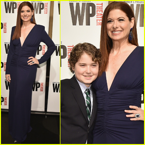 Debra Messing Brings Son Roman to Women's Project Theater Gala