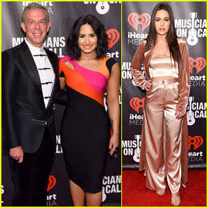 Demi Lovato & Bea Miller Honor Elvis Duran at 'Musicians on Call' Event!
