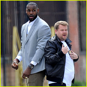 James Corden Fights Off Ninjas with LeBron James While Filming a New Segment!