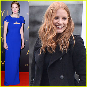 Jessica Chastain Visits Zoo in Warsaw During 'Zookeeper's Wife' Press Tour