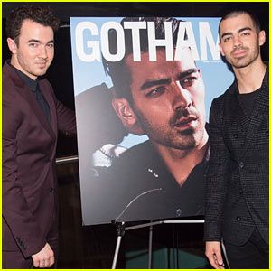 Joe Jonas Gets Support from Brother Kevin at 'Gotham' Magazine Cover Party