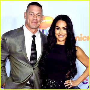 John Cena & Girlfriend Nikki Bella Kick Off Kids' Choice Awards 2017 Orange Carpet!