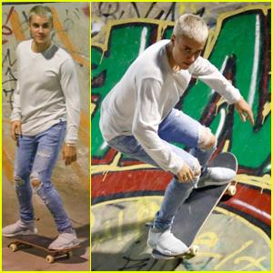 Justin Bieber Hits the Skateboard Park in Rio De Janeiro