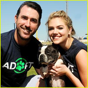 Kate Upton & Fiance Justin Verlander Host Pet Adoption Event!