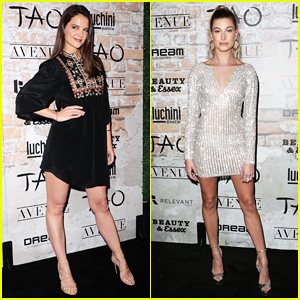 Katie Holmes & Hailey Baldwin Lead Celeb-Studded TAO Opening Block Party!