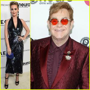 Katy Perry & More Stars Attend Elton John's 70th Birthday Bash!