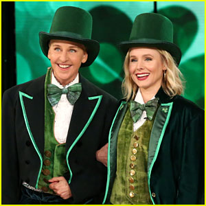 Kristen Bell & Ellen DeGeneres Play St. Patrick's Day Version of 'Heads Up' - Watch Now!